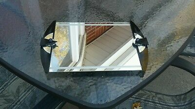 Art Deco Geometric Wall Or Dresser Mirror Artist Signed
