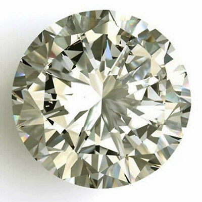 Huge 0.88 ct 6.60 mm VVS1 Off White Yellow tint Round Cut Loose Moissanite