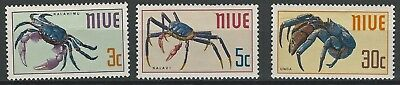 NIUE 1970- Indigenous Eatable Crabs - Full set (3v) - SG151-153, MLH