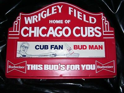 Budweiser Wrigley Field Marquee sign Chicago Cubs Harry Caray