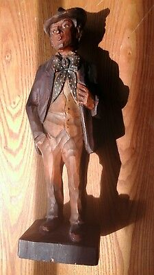 """Karl Griesbaum Carving """" Whistler """" 11 3/4"""" Germany Black Forest Automaton"""