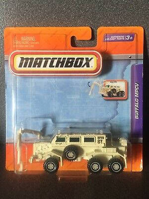 Matchbox Real Working Rigs Buffalo Mine Clearance Vehicle HTF Colour