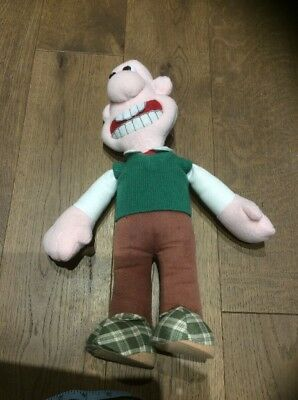 """Wallace And Gromit. Soft Toy Wallace Figure. Size 15"""". Collectible."""