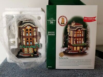Dept 56 Dickens Village - The Red Lion Pub - 20 Anniversary Special Edition
