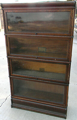 Antique Globe Wernicke Stacking Lawyer / Barrister Oak  Bookcase