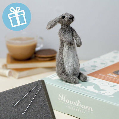 RABBIT needle felt kit boxed with foam and colour instructions
