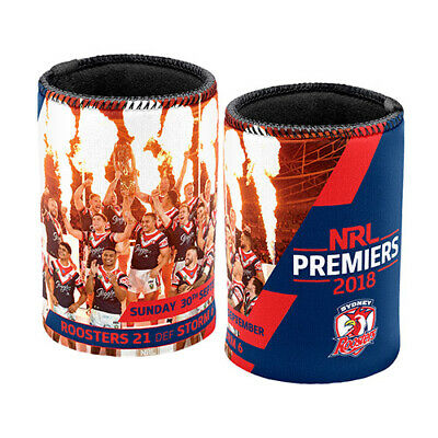 Sydney Roosters NRL 2018 Premiership Premiers Can Cooler Stubby Holder Gift