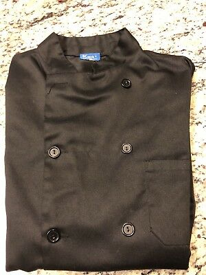 New Men's L KNG black chef's jacket (Qty. 4)