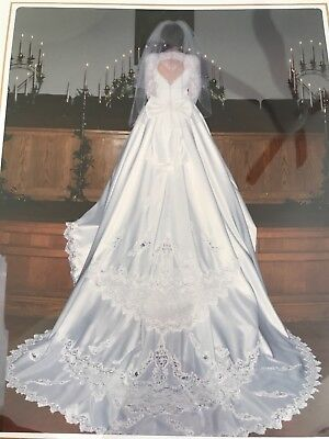 MORI LEE VINTAGE wedding dress size 8 white with train 1996 - $79.00 ...