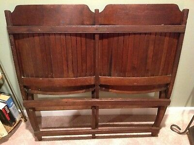 Antique Heywood Wakefield Double Slat Wood Folding Chairs