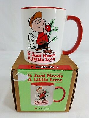"Charlie Brown & Snoopy ""It Just Needs A Little Love"" Christmas 2015 Coffee Mug"