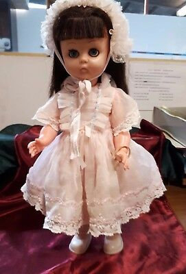 Vintage Plastic Doll 42cm - Dressed - Eyes open and close