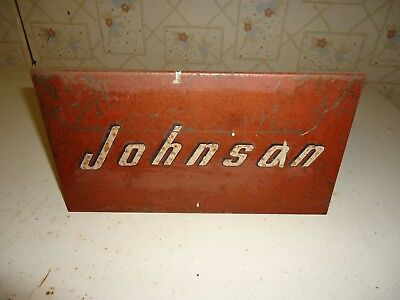 Vintage Johnson Outboard Tin Sign