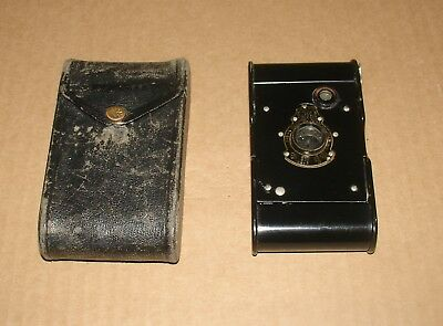 Vintage Kodak Ball Bearing Shutter 1917 Folding Camera with Case