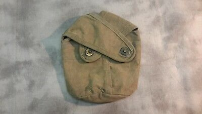 WW2 USMC first model crossflap canteen cover