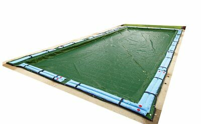 Winter Pool Cover Inground 25X45 Rectangle Arctic Armor 12Yr Warranty w/ Tubes