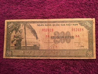 South Vietnam, 200 Dong, P-14a, key note