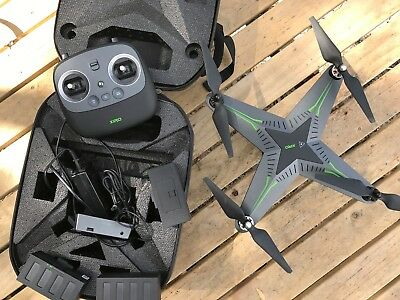 Xiro Xplorer V Drone 1080P Camera + 3 axis Gimbal + backpack + three batteries