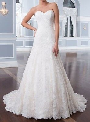 LILLIAN WEST 6293 IVORY LACE size 6 Now just $280 was $1398 - 80% OFF!