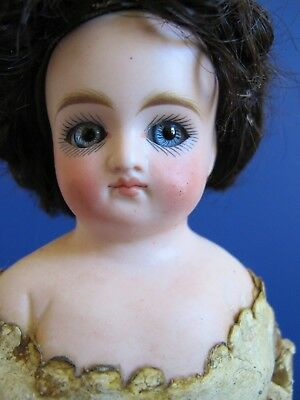 Antique French Style Belton Type Doll, Closed Mouth, Dome Head, Excellent C 1875