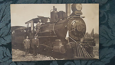 RPPC of D.B. & W.R.R. railroad engine #1 and workers - early 1900's