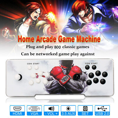 Metal Pandora Box 4s Home Multiplayer Arcade Console 800 Games All in 1 PCB US