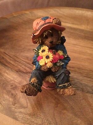 Boyds Bear Figurine Fall Scarecrow Bear