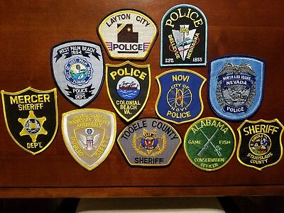 lot of 11 Police Patches