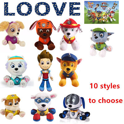 20cm PAW PATROL Plush Soft Toy Birthday Xmas Gift Figures Dog Doll Character Set