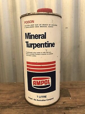 Ampol Mineral Turpentine 1 Litre Tin Rare SA address