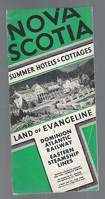 1933 Dominion Atlantic Railway; Eastern Steamship-Nova Scotia Summer Cottages