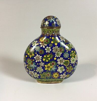 Imperial Cloisonné Snuff Bottle authentic Qing Dynasty signed