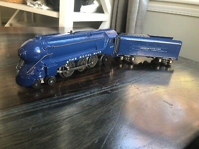 Vintage American Flyer #556 The Royal Blue B&O Railroad Locomotive & Tender RUNS
