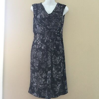 NWOT Motherhood Maternity Size Medium Black Flower Dress