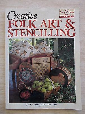 Creative Folk Art & Stencilling~Allen & Bennet~23 Projects~80pp P/B~1994