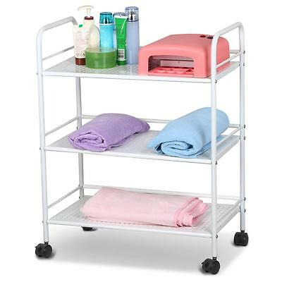 3 Shelf Iron Cart Trolley Doctor Dentist Medical Trolly Spa Salon Equipment New