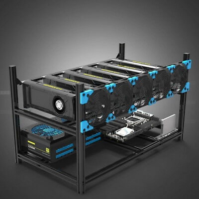 Veddha 6GPU Aluminum Stackable Open Air Mining Case Computer Frame Rig Ethereum