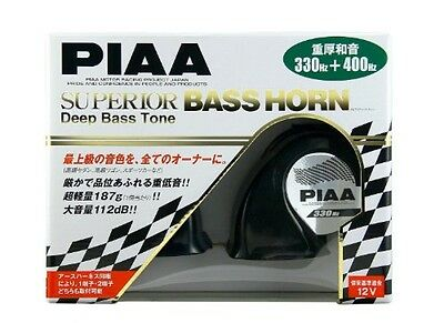 New PIAA SUPERIOR BASS HORN 112dB(330Hz / 400Hz) Black 2 pieces HO-9 JAPAN F/S