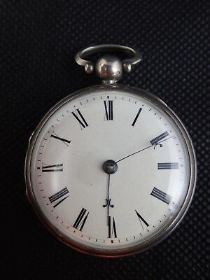 Sterling Silver Verge Fusee Pocket Watch by Calame
