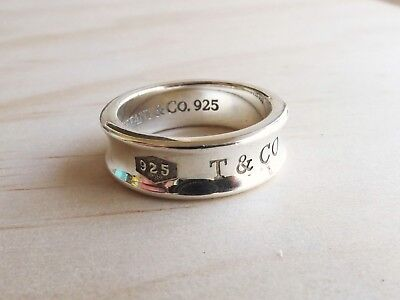 Tiffany & Co 1837 Band ring Sterling silver authentic Size Q1/2 - R or 8 1/2 - 9
