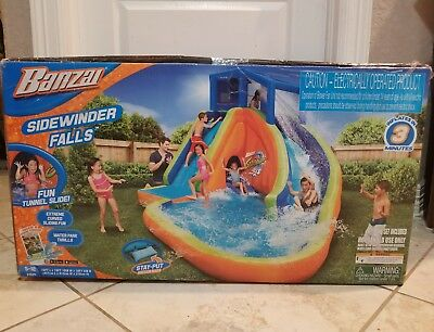 Brand New Sealed Box Banzai Sidewinder Falls Tunnel  Inflatable Water Park Pool