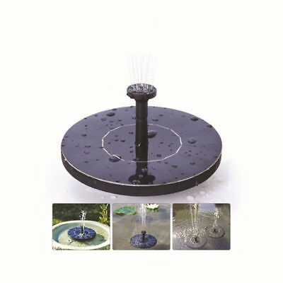Water Floating Pump Solar Panel Power Fountain Fit Pool Garden Plants New Style