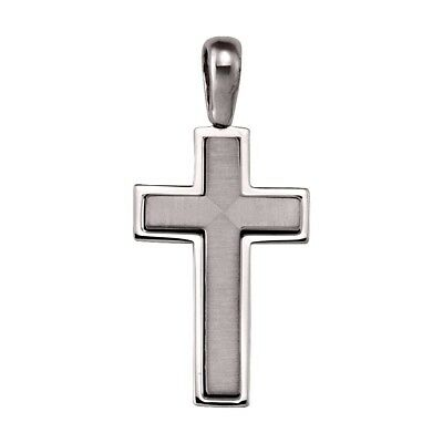 """14k solid white gold high-end cross(1.5""""inch/6gr)"""
