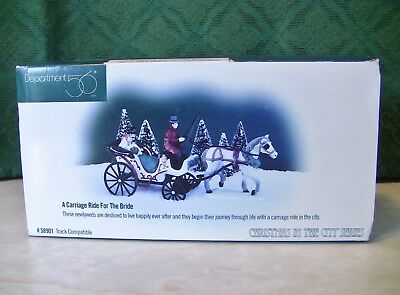 Dept 56 A CARRIAGE RIDE FOR THE BRIDE SET - CHRISTMAS IN THE CITY SERIES