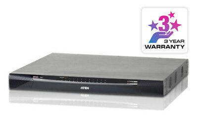 24 Port KVM Over IP, 1 local/4 remote user access. Support 1920x1200, Panel Arra