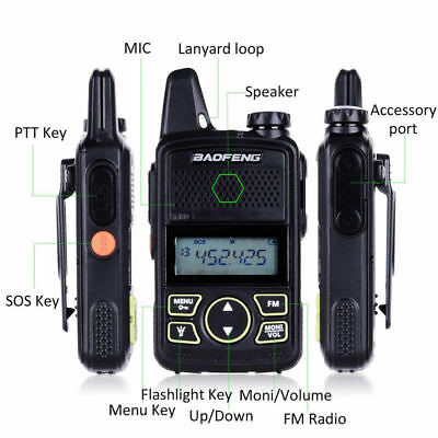 Walkie Talkie BF-T1 MINI Radio UHF 400-470MHz FM Transceiver With PTT Earpiece R