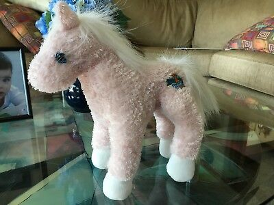 """Kookeys Pink Horse Plush Doll 10"""" nice! See Picts"""