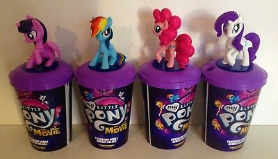 My Little Pony Movie Exclusive Theater Cup Topper Set With 12 oz Cups
