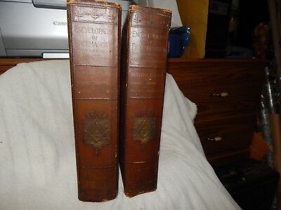 Vintage Encyclopedia Of Freemasonry Vol 1 & 2 1921 Albert Mackey freemason books