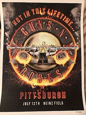 Guns N Roses Lithograph July 12, 2016 Heinz Field Pittsburgh, Pa Poster